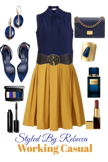 Working Casual -Navy and Gold