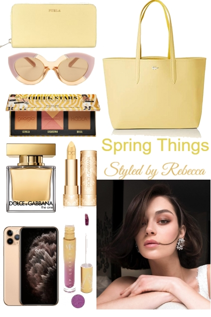 Spring Things-Yellow Pops Of Color