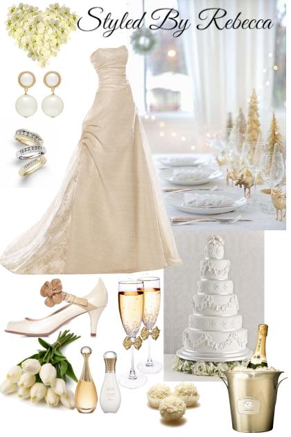 Creamy Gold Wedding Dress