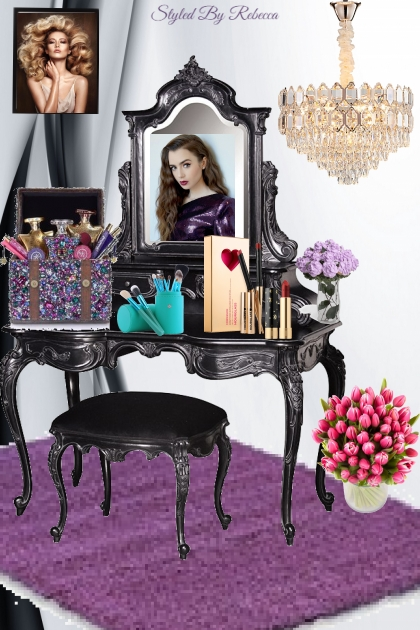 Glam things for a vanity