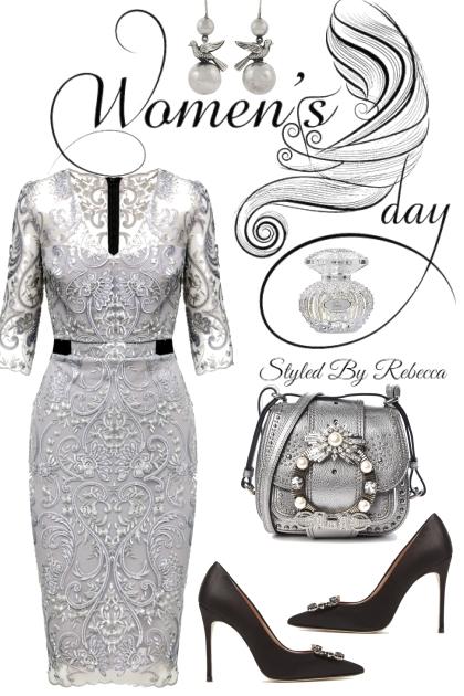 Women's Day In Lacy Grey