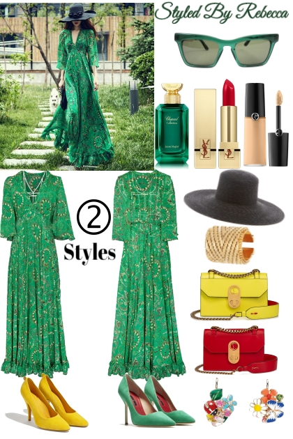 2 Styles -Spring Green Dress