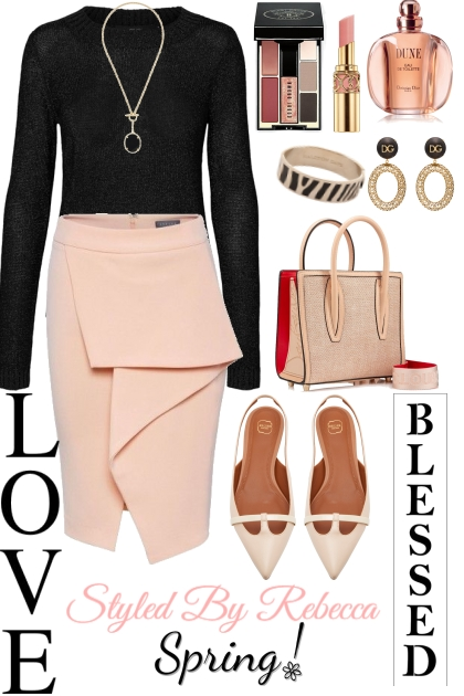 Spring Blessed On A chilly Day- Fashion set