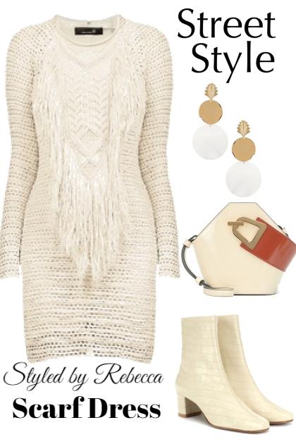 Scarf Dress-Fall Street Style