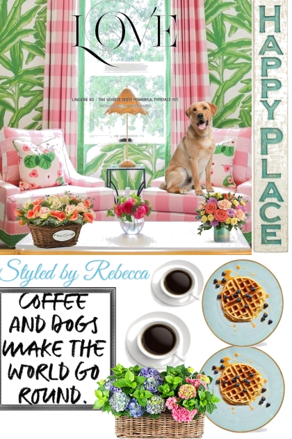 Happy Place -Coffee and Dogs-Art