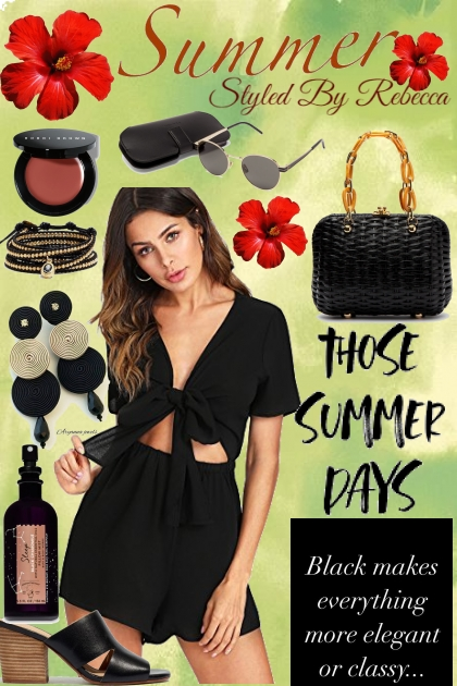 SUMMER SETS IN BLACK