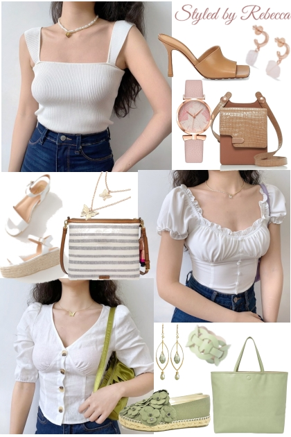 Classic White Tops- Fashion set
