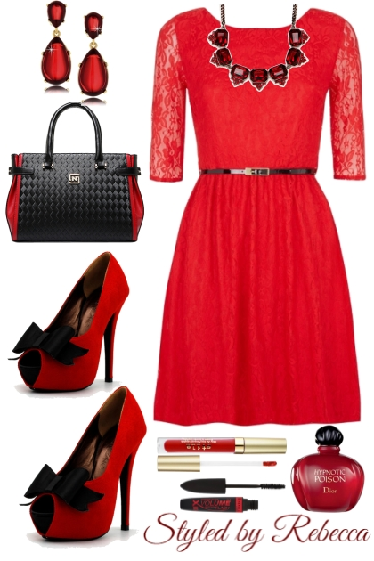 Jazzy Red in Lace