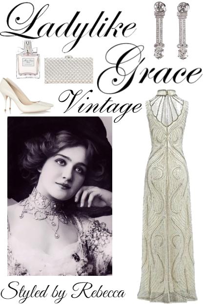Vintage Of A Lady- Fashion set