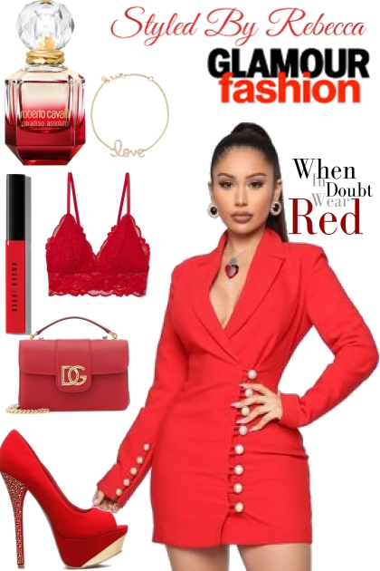 4 Ladies who love red