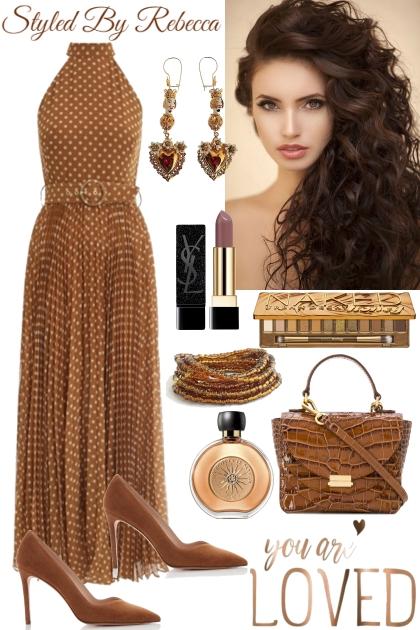 Simple Date Dress In Brown