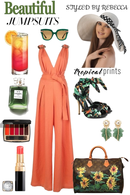SUMMER jUMPSUIT -TROPICAL PRINTS