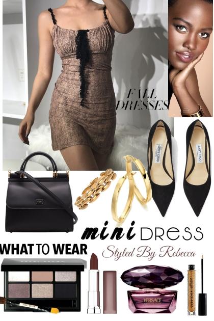 Mini Dress Season In The Fall- Modna kombinacija