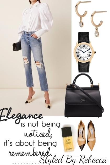 Casual Elegance  in Rip Jeans- Modna kombinacija