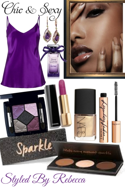 CHIC AND SEXY IN THE PURPLE