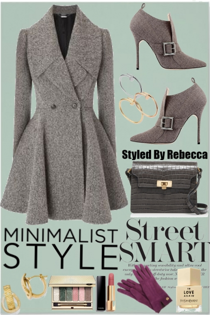 MINIMALIST GREY STREET COATS