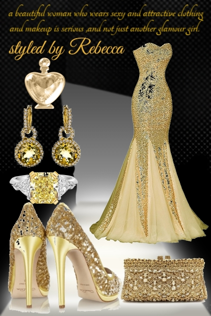 golden glam attire