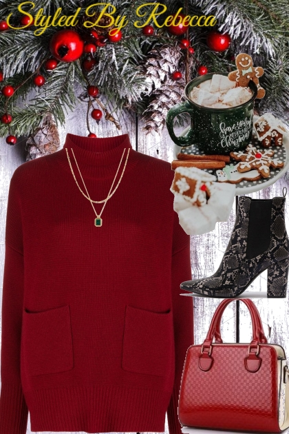Red Top Holiday - Fashion set
