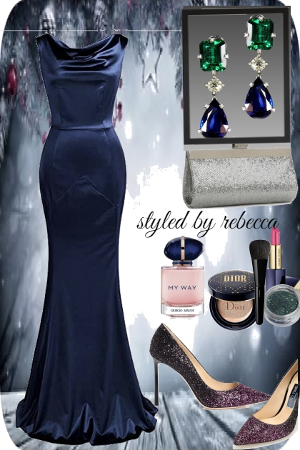 New years formal blue