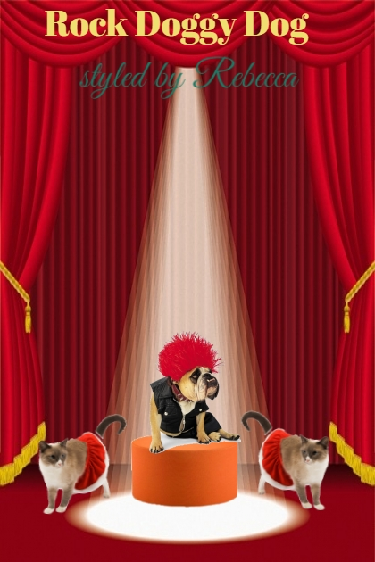 Rock Doggy Dog-Funny Art