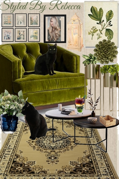 A Little Green Room For Cats