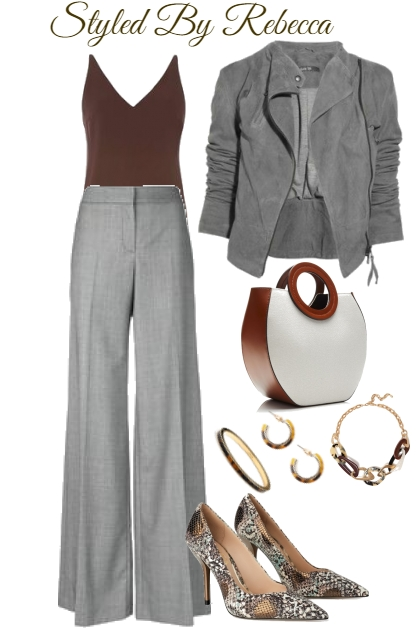 Grey and Brown Work Set