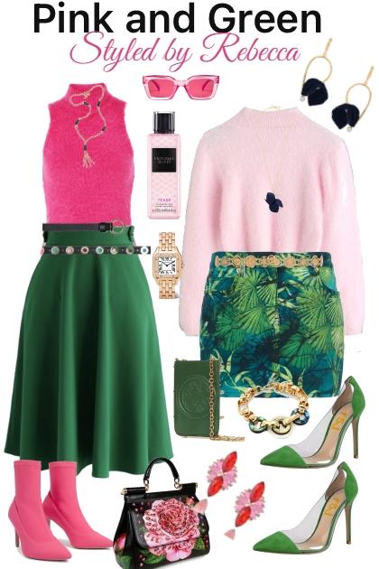 pink and green life- Kreacja
