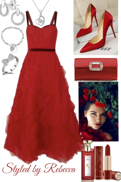 red dress of the day