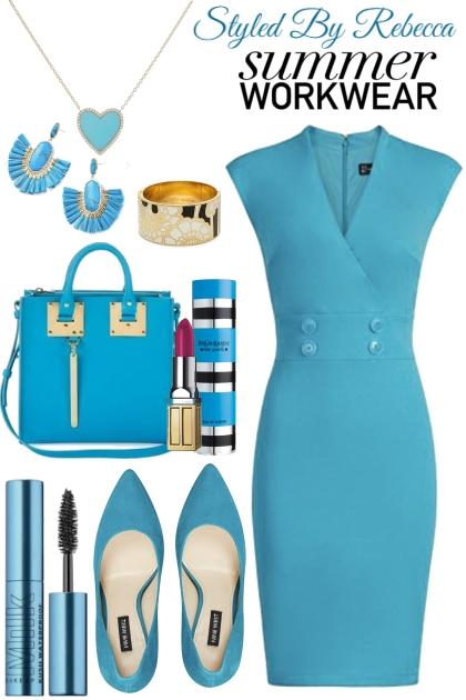Summer Work Wear-Cool Blue