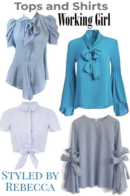 Tops and Shirts -Working Girl