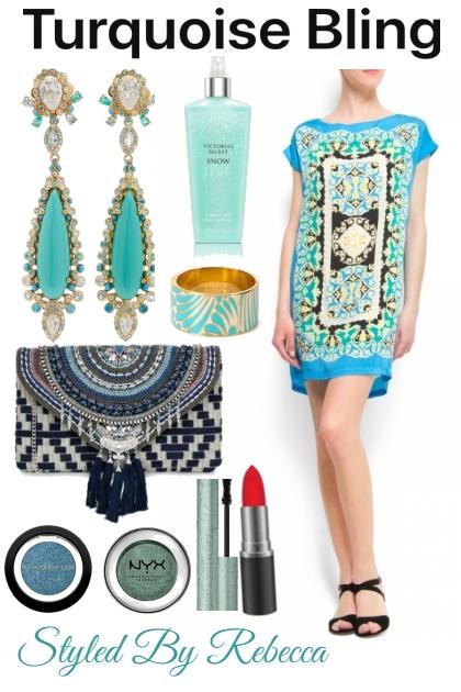 Turquoise Bling Earrings