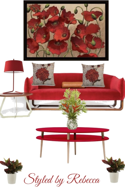 Relaxed red- home interior ideas