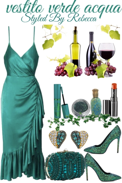 vestito verde acqua