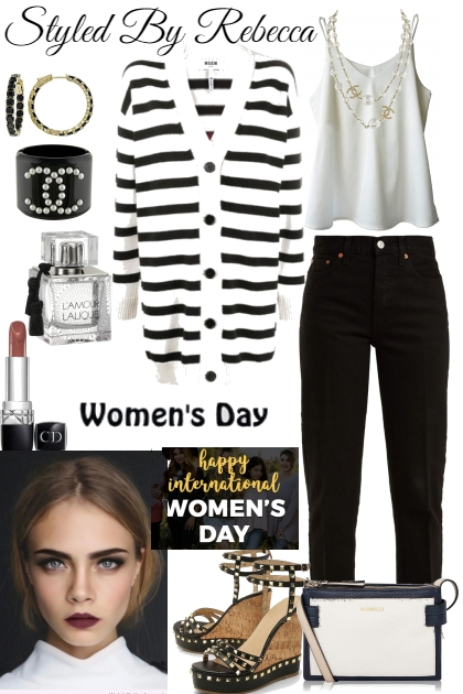 black and white -women's day style