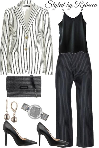 Stripe Up Working Girl