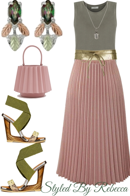 Dress Up Your Pleated Skirt