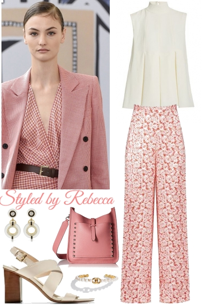 Lovely Floral Pink Pants