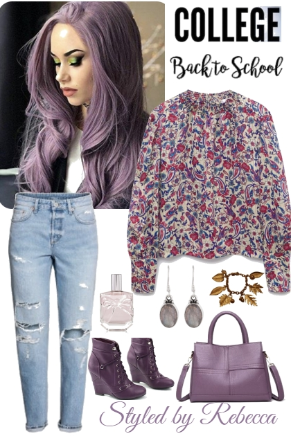 Purple and Calm Back To School