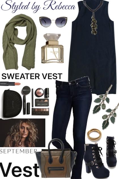 September Navy Vest