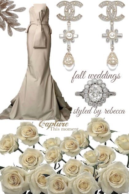 Fall weddings and taupe style