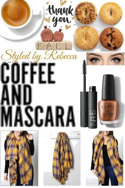 Fall Mascara, Scarf's and Coffee