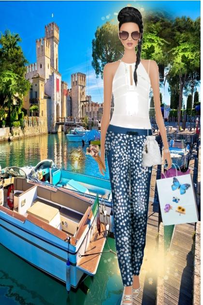 Summer in Sirmione -lake-garda Italy