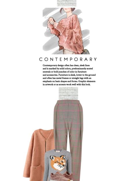 Contemporary cozy- Fashion set