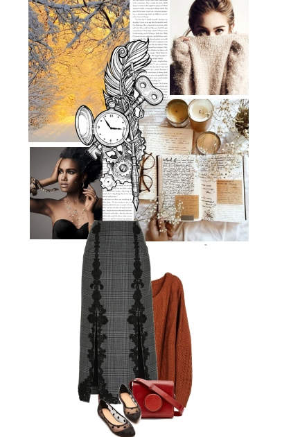 Cheerful winter: look and moodboard