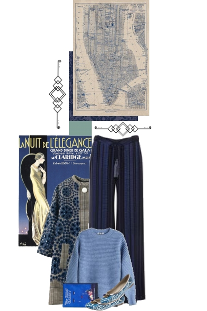 The art deco blues
