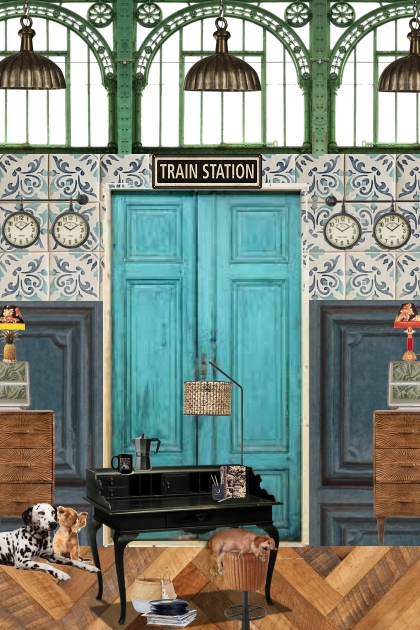 Make your home in an old train station ...
