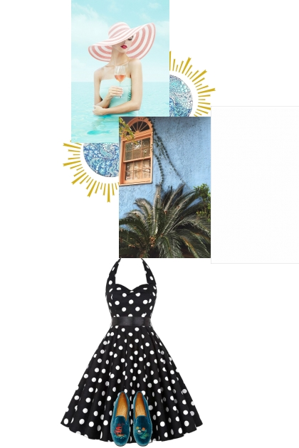 1950s Hausfrau am meer- Fashion set