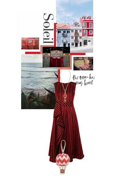 red by the ocean- Fashion set