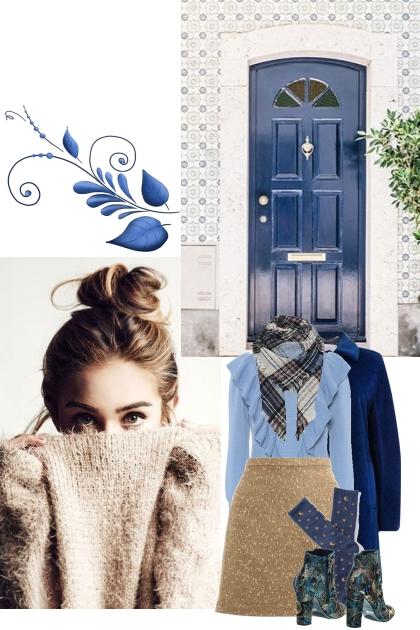 As always winter is blue
