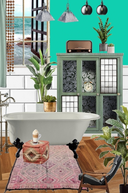 Jungle and ocean bath
